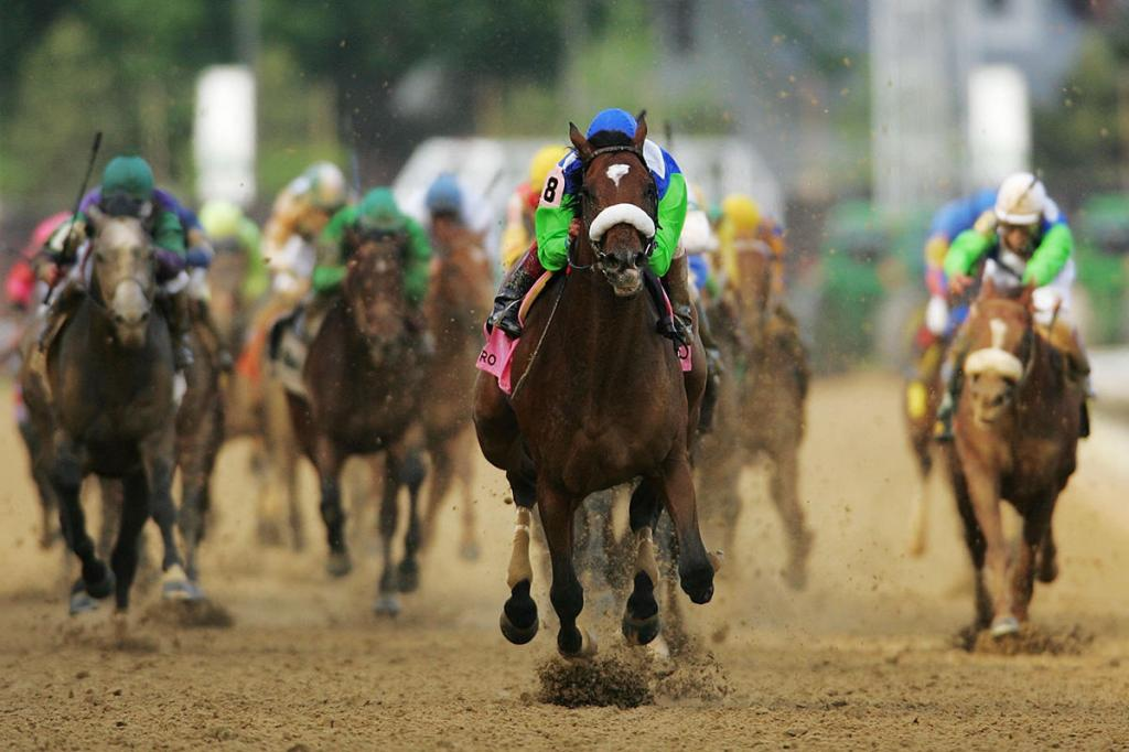 Barbaro wins the 132nd running of the Kentucky Derby in May 2006.